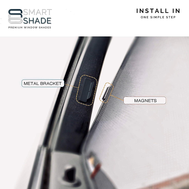 BACK Smartshade Flawless Magnetic Custom-Tailored Window Shades UVA//UVB Rays Protection Mazda CX-3