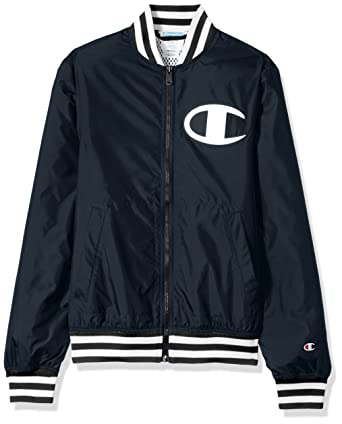 e2d8954c Amazon.com: Champion LIFE Men's Satin Baseball Jacket: Clothing