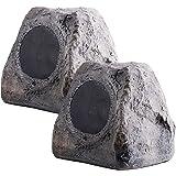 RX550 5.25-Inch 100W 2-Way Outdoor Weather-Resistant Rock Speaker - OSD Audio - (Pair, Grey)