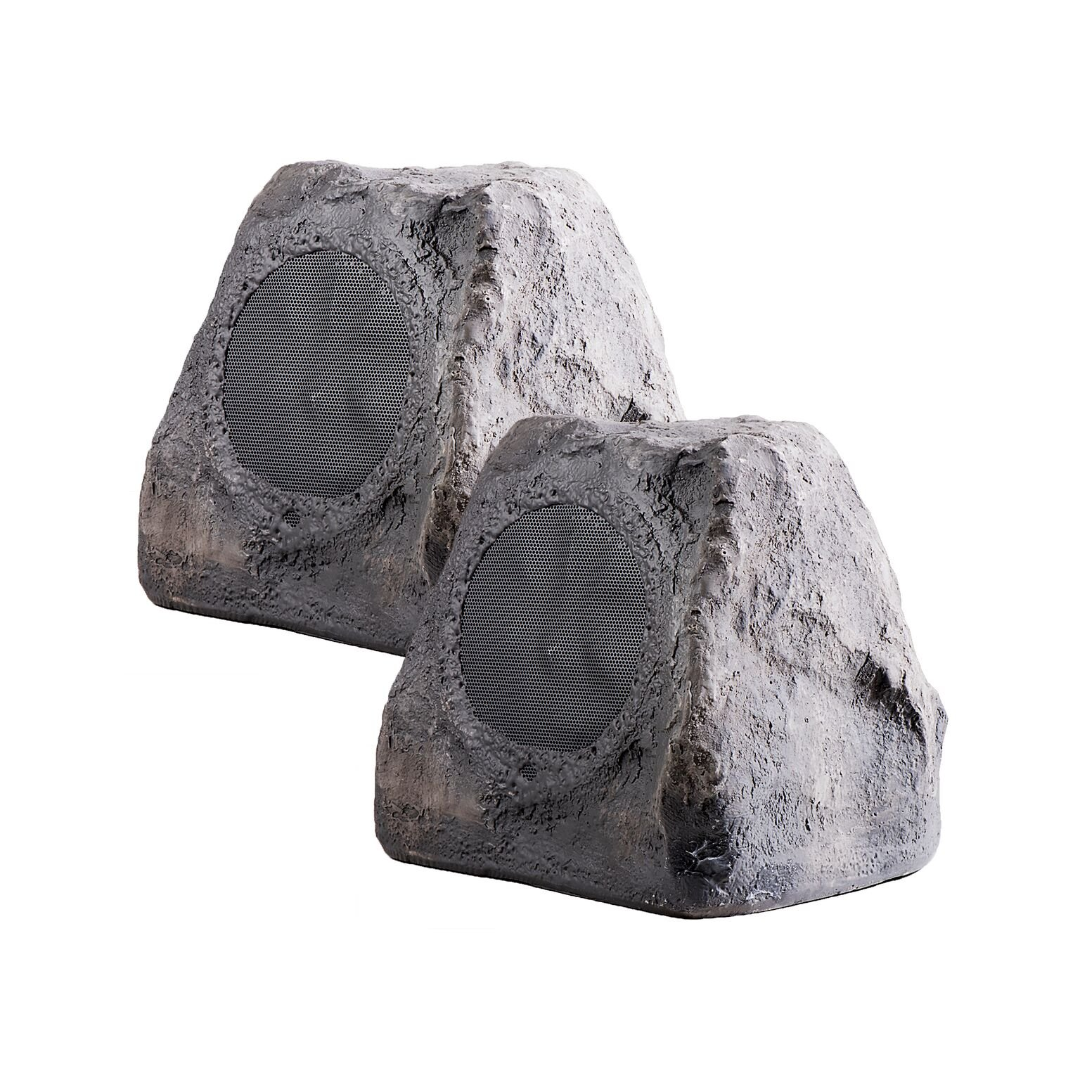 OSD Audio 5.25'' 100W Outdoor Rock Speaker Pair - Weather Resistant Stereo - RX550Slate by OSD Audio