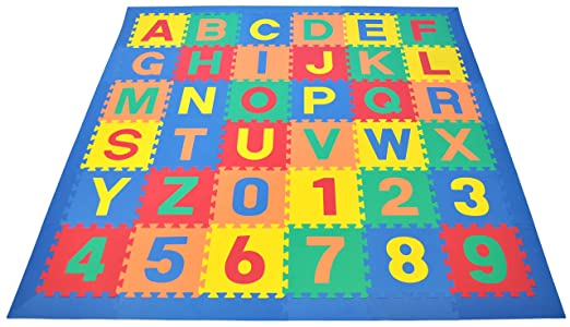Wonder Mat Non-Toxic Non-Recycled Alphabet Letters & Counting Numbers