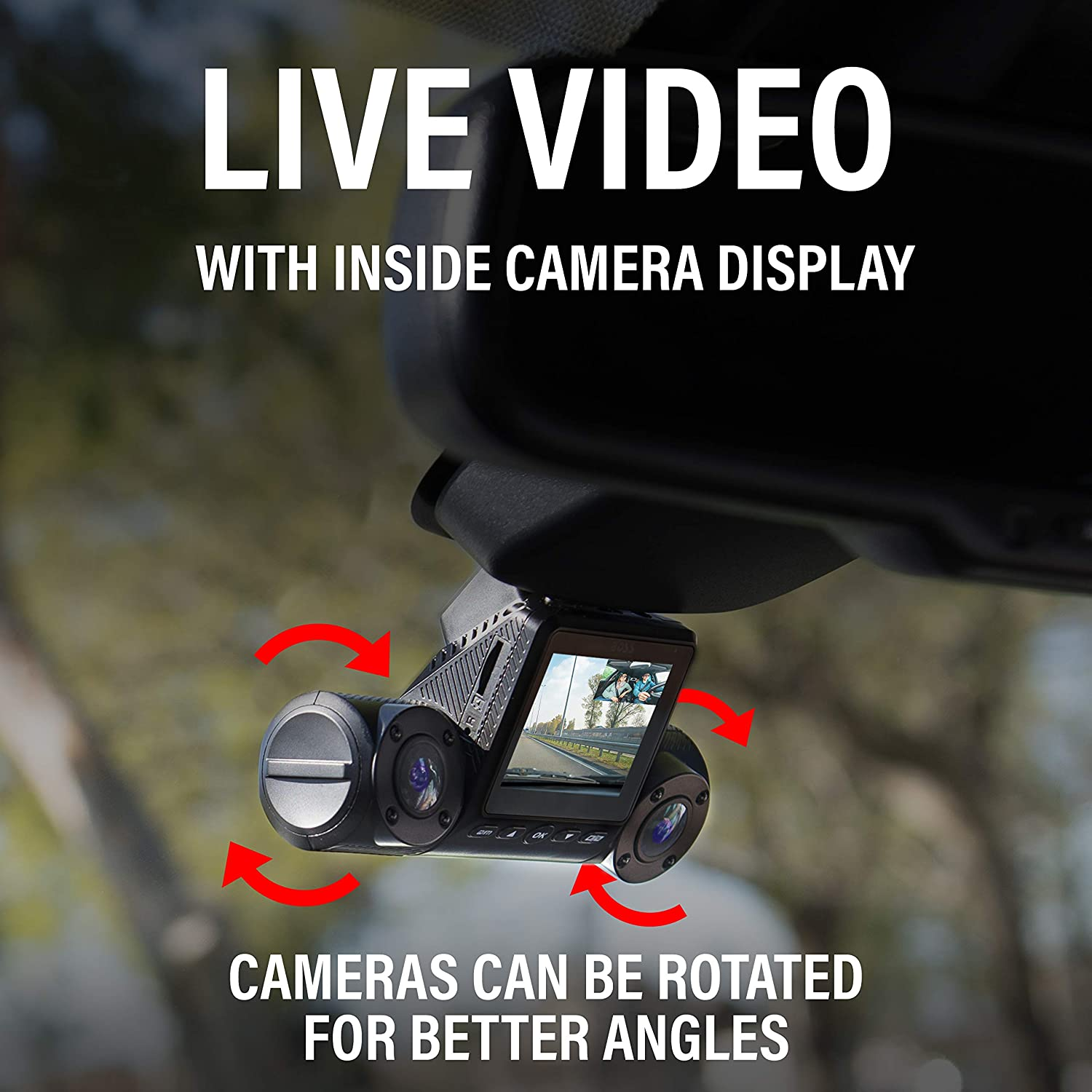 WDR Night Vision 2 Inch High Definition LCD Auto Loop Recording Image Sensor GPS Logger Wi-Fi BOSS Audio Systems BCAMW80 Car Dash Cam Motion Detection 1080P HD Front-Inside Recording