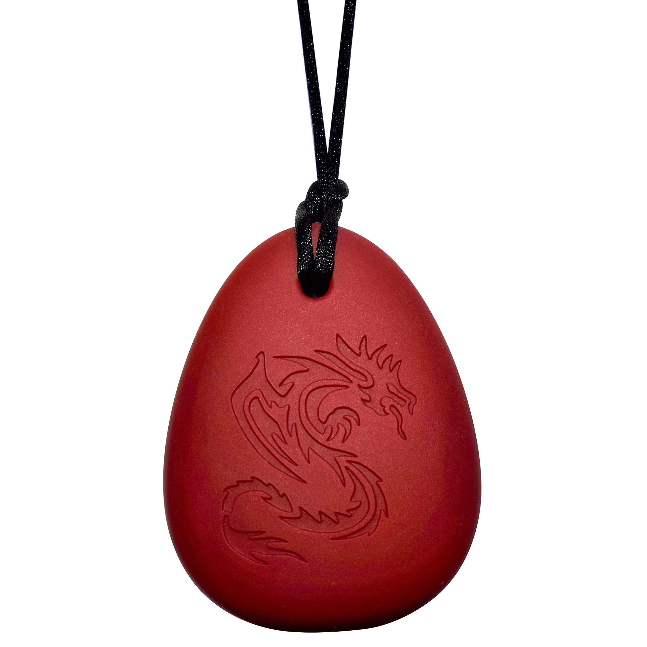 Dragon Sensory Chewelry - Munchables Chew Necklace (Red)