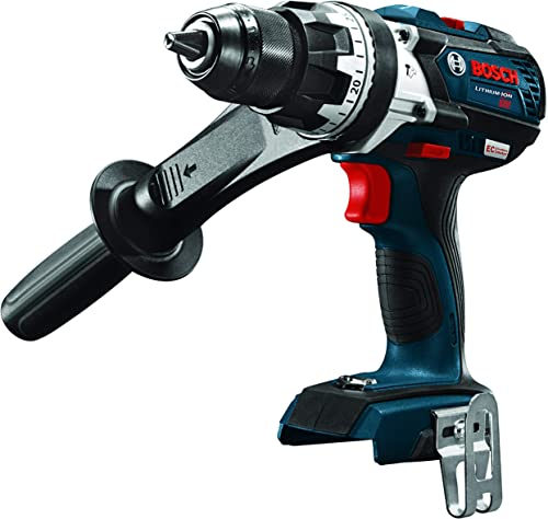 Bosch HDH183B 18V EC Brushless 1 2 In. Hammer Drill Driver Bare Tool , Blue Renewed