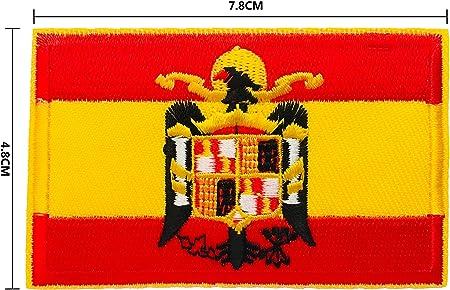 BANDERA DEL PARCHE BORDADO PARA PLANCHAR O COSER (Águila de San Juan 7.8cm): Amazon.es: Hogar