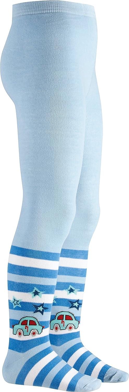 elastische Baumwoll-Strumpfhosen mit Komfortbund Playshoes Kinder-Strumpfhose f/ür Jungen und M/ädchen mit Auto-Motiv und Sternen-Motiven gestreift schadstoffgepr/üft