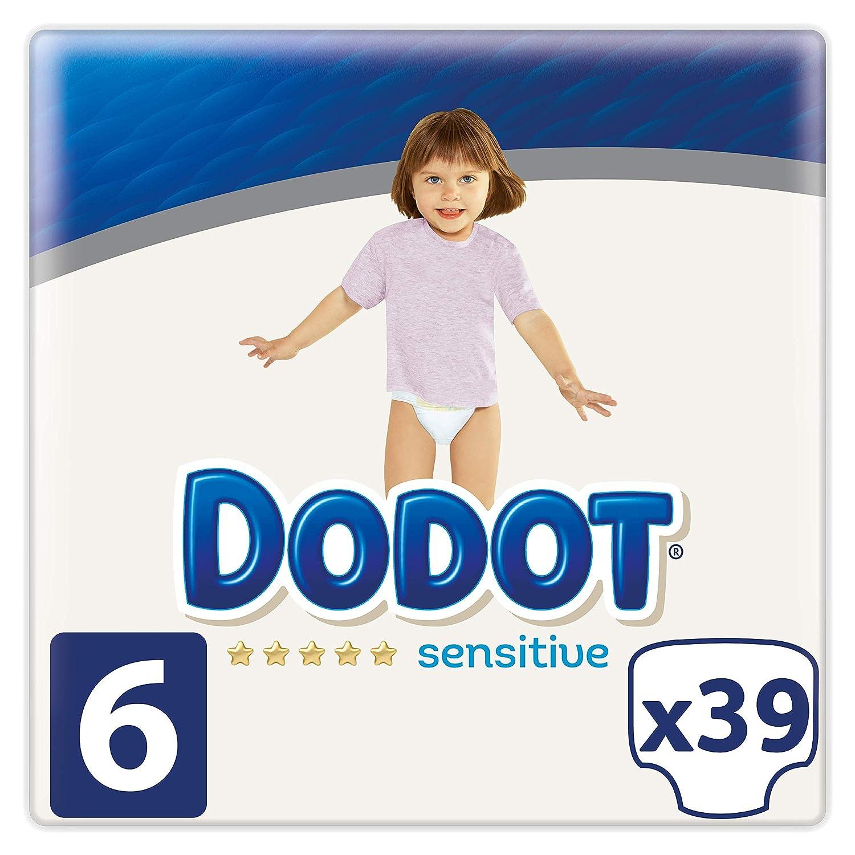 Dodot Sensitive - Pañales Talla 6, 39 Pañales, 13 kg+