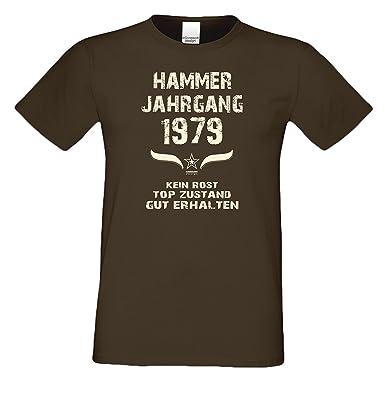 Bequemes 38. Jahre Fun T-Shirt zum Männer-Geburtstag Hammer Jahrgang 1979  Ideale