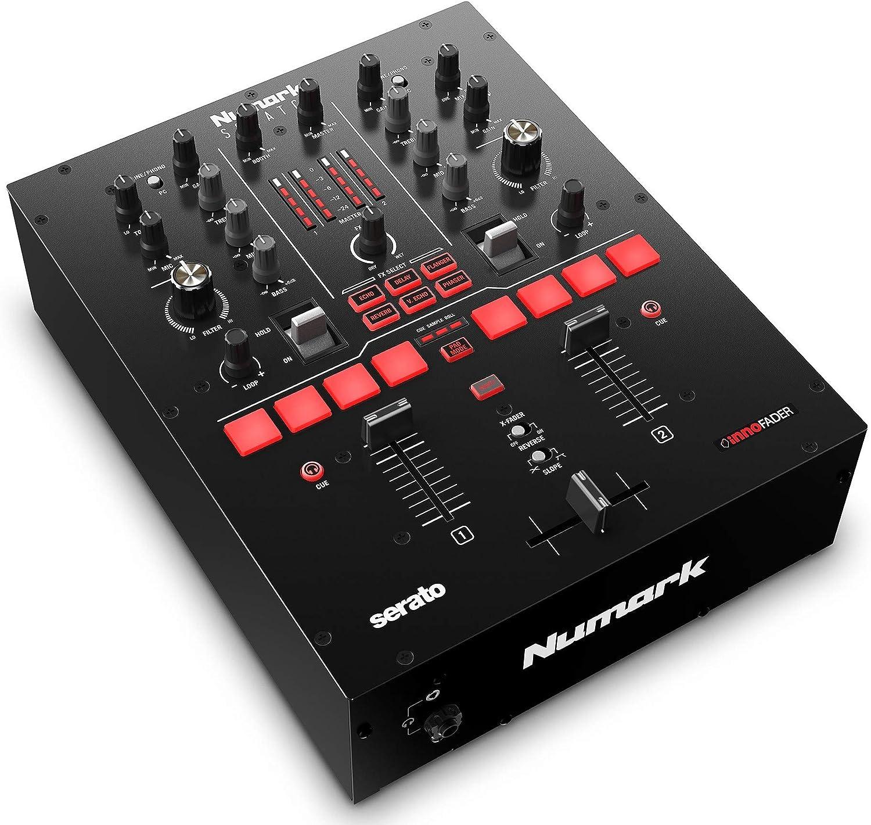 SoundSwitch DMX Micro Interface Serato DJ Pro dos Canales Crossfader Innofader Pads interfaz de USB a DMX ultra compacta Licencia DVS Numark Scratch Mezclador de DJ para Scratch