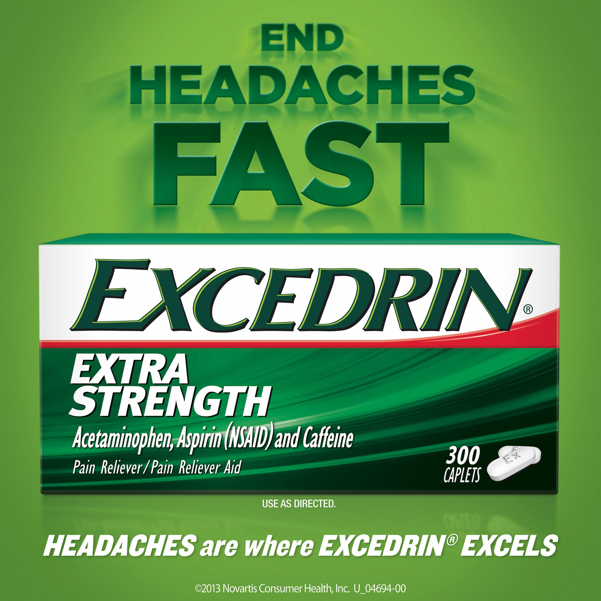 Excedrin Extra-Strength Caplets, 300 ct. (pack of 6)