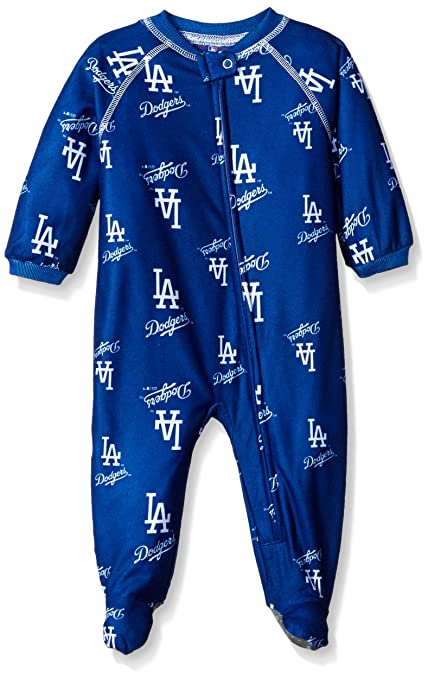 Buy Mlb Brooklyn Dodgers Newborn Boys Sleepwear All Over Print Zip