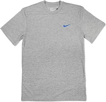 Camiseta de algodón de Nike, mangas cortas, diseño atlético ...