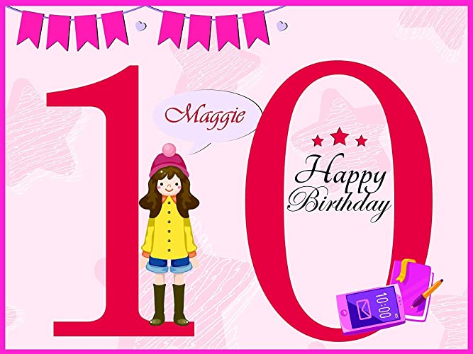 Custom 10 Year Old Creative Teen Design Birthday Party Poster For Girls