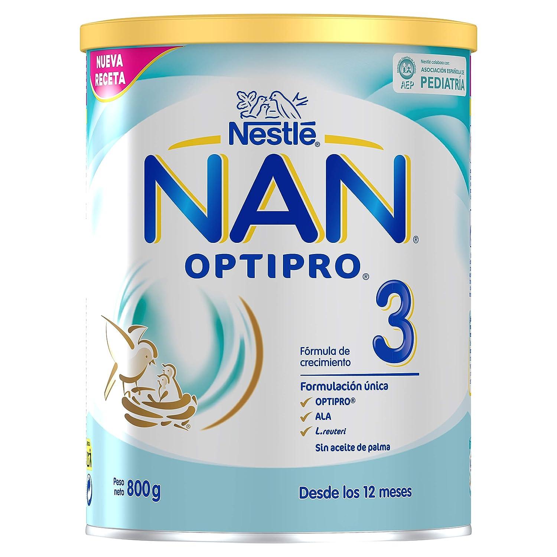 NAN OPTIPRO 3 - Preparado lácteo infantil - Fórmula de crecimiento en polvo - A partir de los 12 meses - 800g: Amazon.es: Alimentación y bebidas