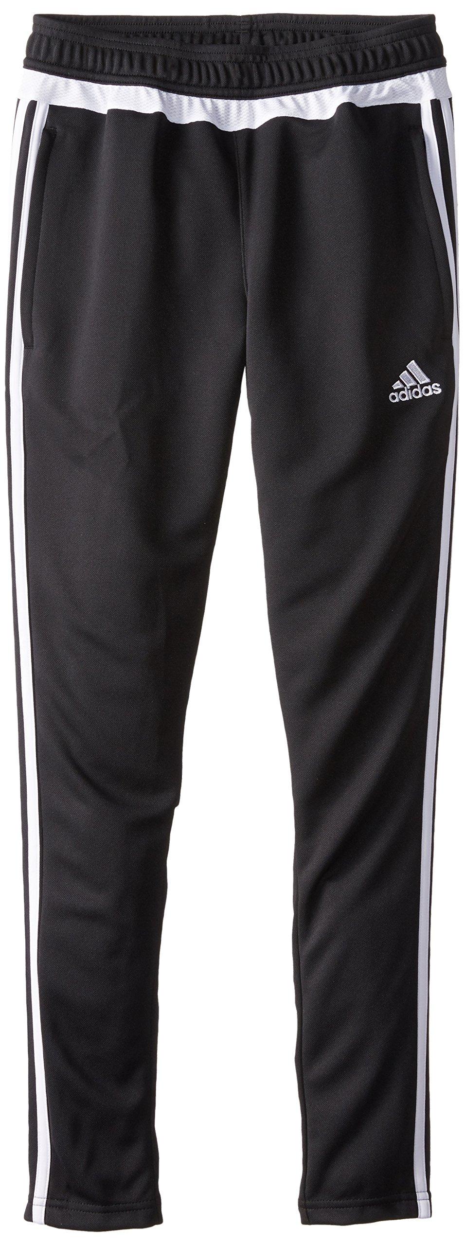 adidas Performance Youth Tiro 15 Training Pant, Large, Black/White/Black