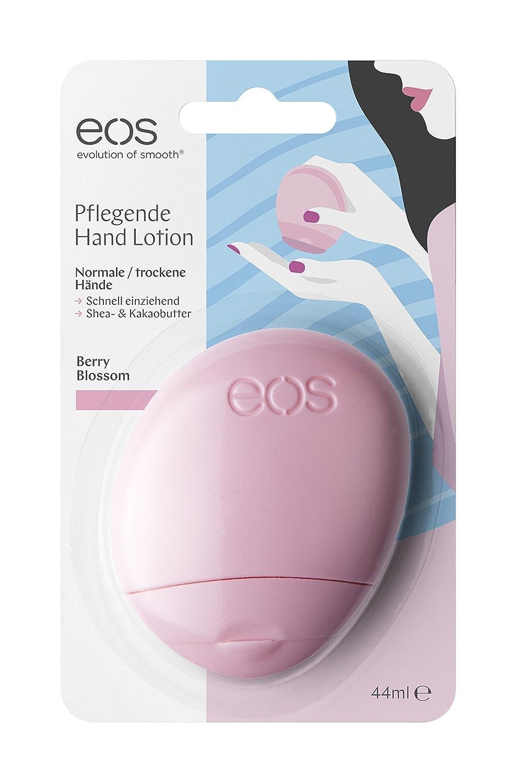 eos Hand-Lotion Vanilla Orchid, Handcreme bei trockener Haut, vegane Feuchtigkeitscreme, Intensiv-Pflege für zarte Hände, mit Marulaöl, 1 x 44 ml mit Marulaöl 31539