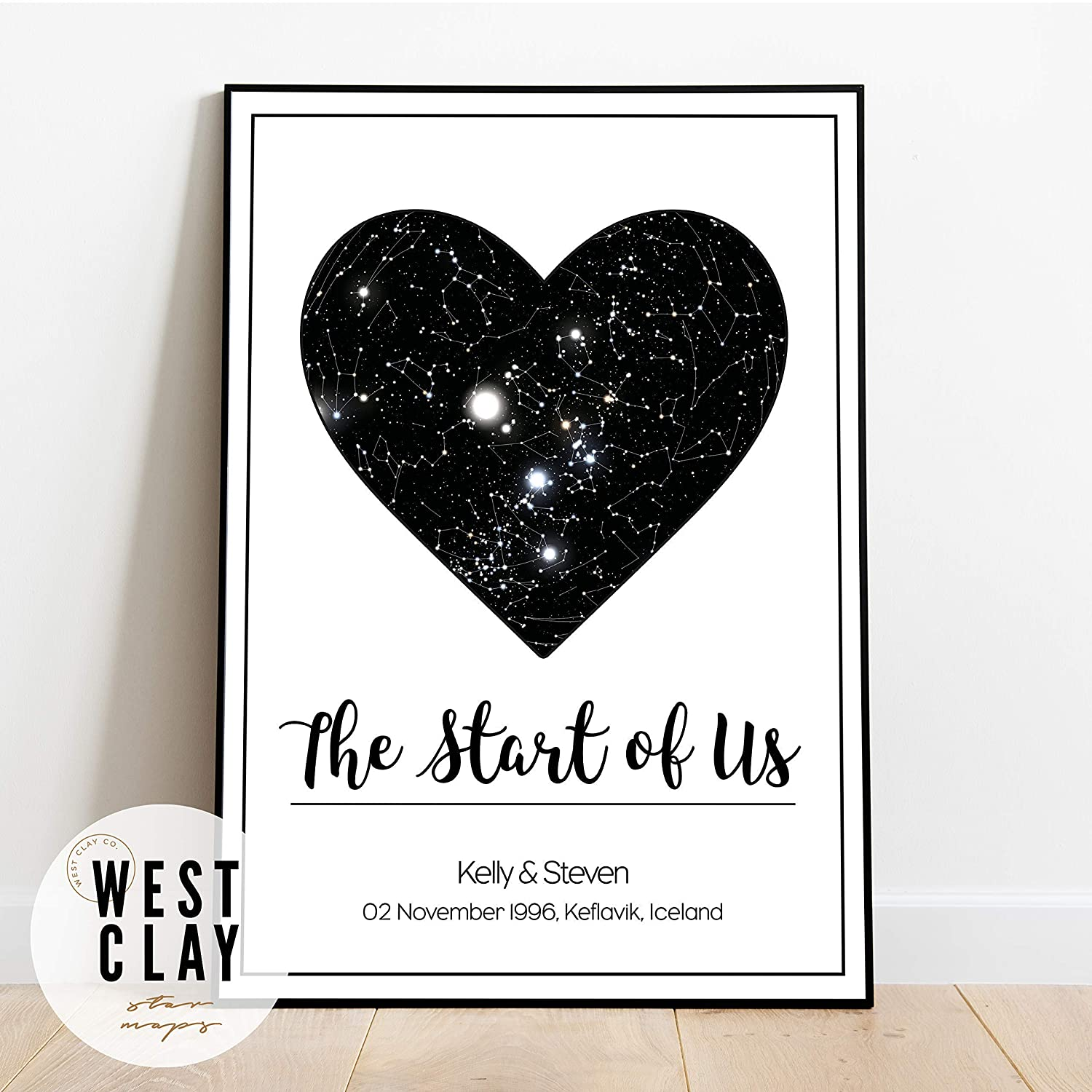 /'My Whole Heart/' Art Print Poster Two Size Options Exclusive Olivia Valentine
