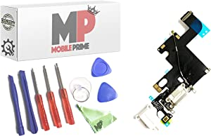 MobilePrime White Charging Port Replacement Kit Compatible for iPhone 6 Including Repair Tools - 821-1853