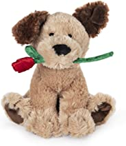 GUND Deangelo Valentine's Day Dog Holding Red Rose Stuffed Animal Plush