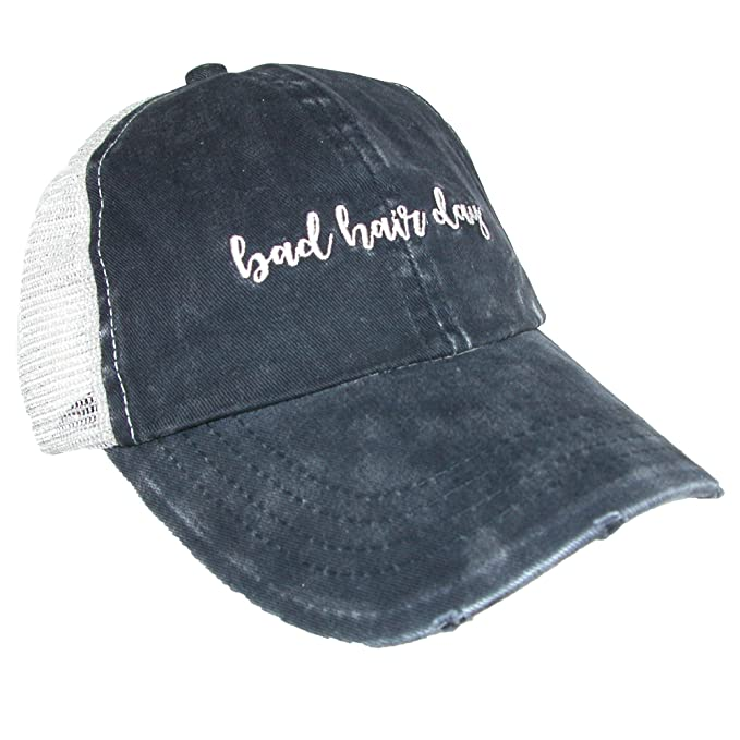 David   Young Women s Distressed Bad Hair Day Ponytail Baseball Cap ... 8ee155fae