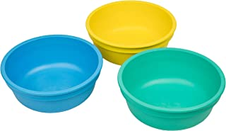 product image for Re-Play Made in USA 3pk 12 oz. Bowls in Yellow, Sky Blue and Aqua | Made from Eco Friendly Heavyweight Recycled Milk Jugs and Polypropylene - Virtually Indestructible (Surf)