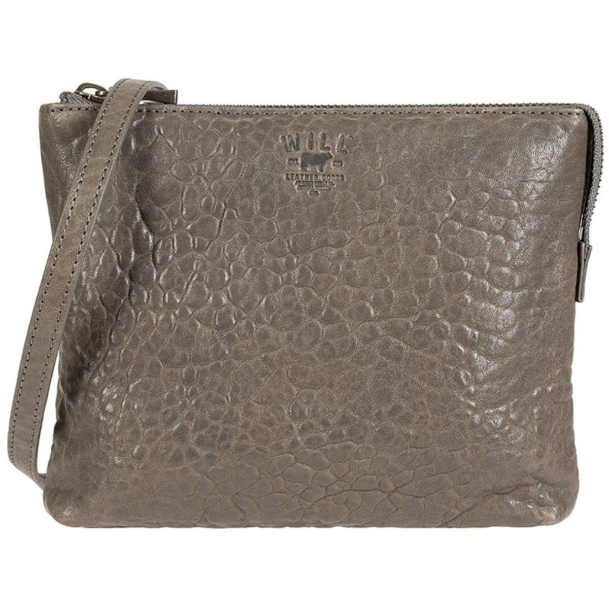 Will Leather Goods Opal Zip Pouch Crossbody Purse - Women's Grey, One Size