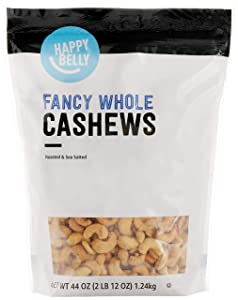 Amazon Brand - Happy Belly Fancy Whole Cashews, 44 Ounce