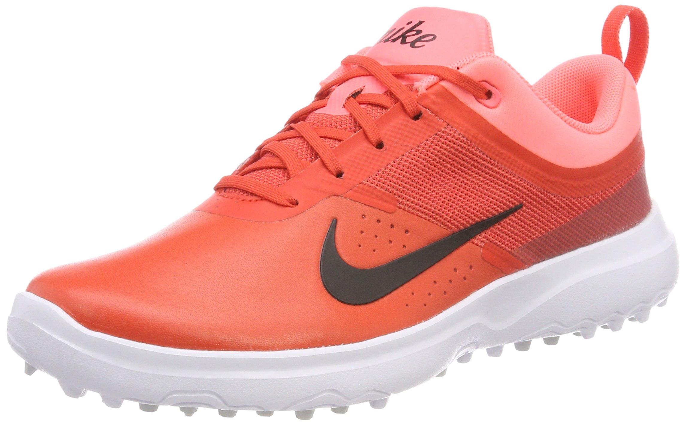 Nike AKAMAI Spikeless Golf Shoes 2017 Women Max Orange/Black/Lava Glow Medium 7