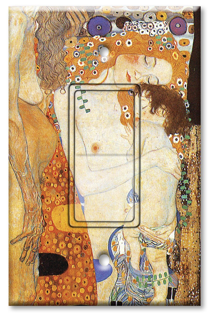 Printed Single-pole Decora Rocker Switch with matching Wall Plate - Klimt - Ages of Women