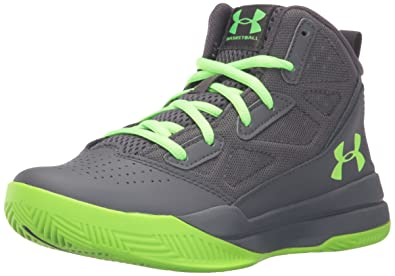 ce43077e966 Under Armour Boys  UA BGS Jet Mid Basketball Shoes  Amazon.co.uk ...