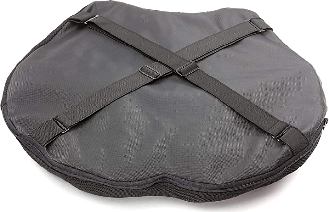 Air Motorcycle Seat Cushion Pressure Relief Pad Large for Cruiser Touring Saddles 14.5