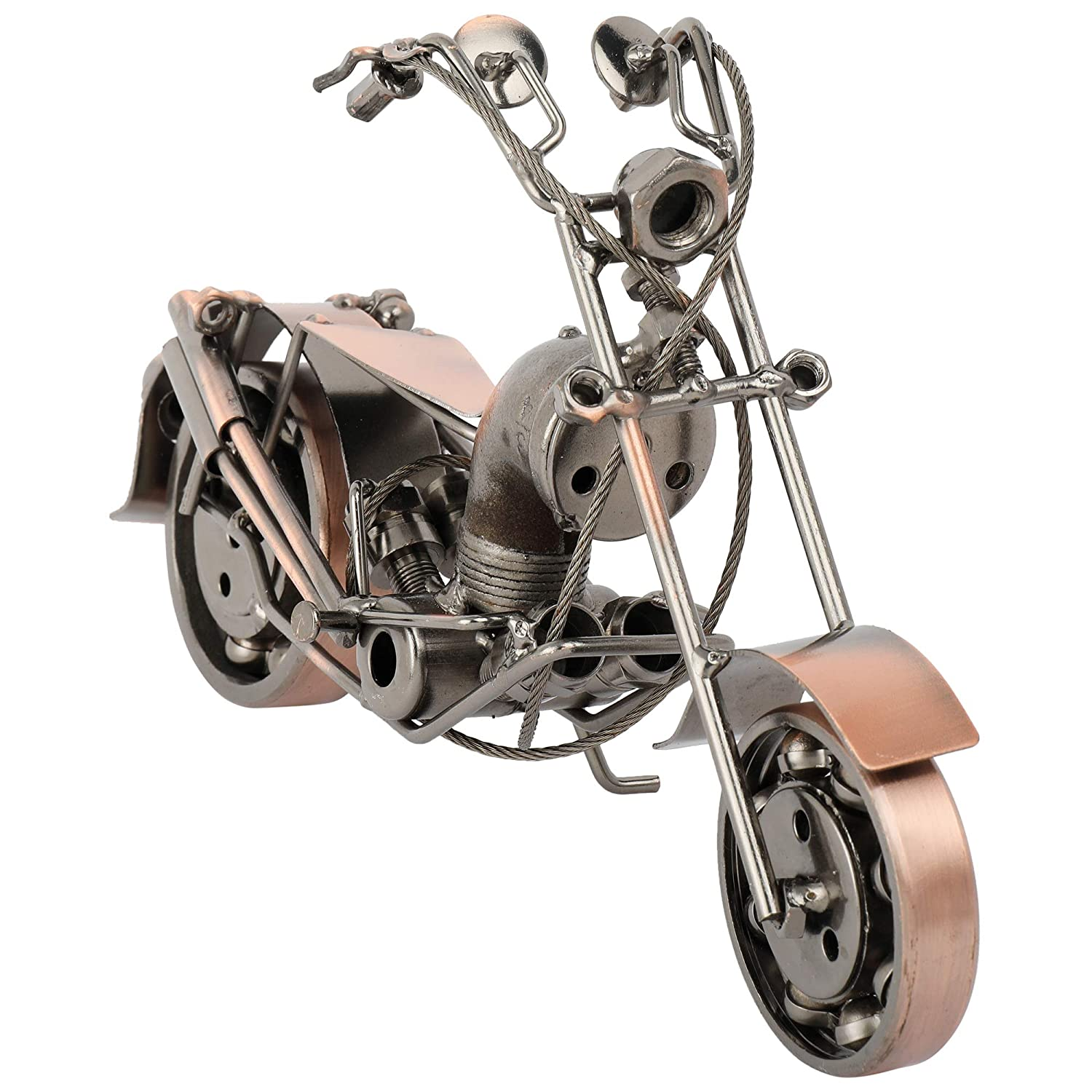 Vintage Handmade Chopper Bike Metal Sculpture Collectible Motorcycle Model Art