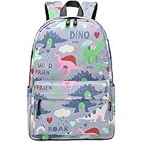 Wadirum Mochila Escolar Moderna para niño y niña Mochila de Viaje para Laptop Dinosaurio