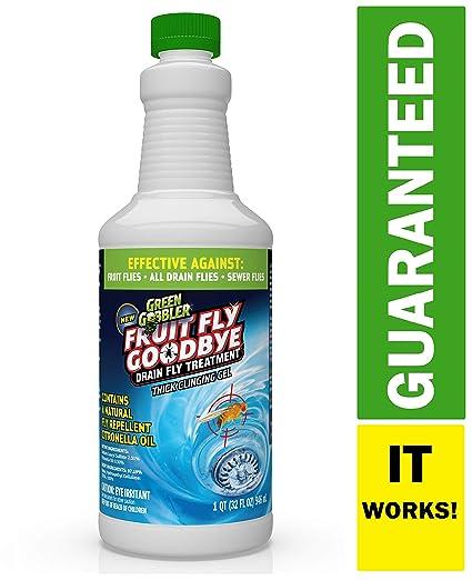 Green Gobbler Fruit Fly Goodbye Gel Drain Treatment | Drain Fly Repellent |  Fruit Fly Repellent | Drain Flies Treatment | Fruit Flies Treatment |