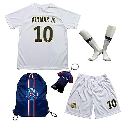 7c68e2792 LES TRICOT 2018 2019 Paris Away  10 Neymar JR. Football Futbol Soccer Kids