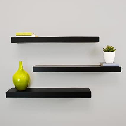 fd0855c3e9 Image Unavailable. Image not available for. Colour: Kiera Grace Maine Wall  Shelf, 24-Inch, Pack of 3 ...