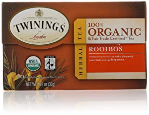Twinings of London Organic and Fair Trade Certified Rooibos Tea Bags, 20 Count