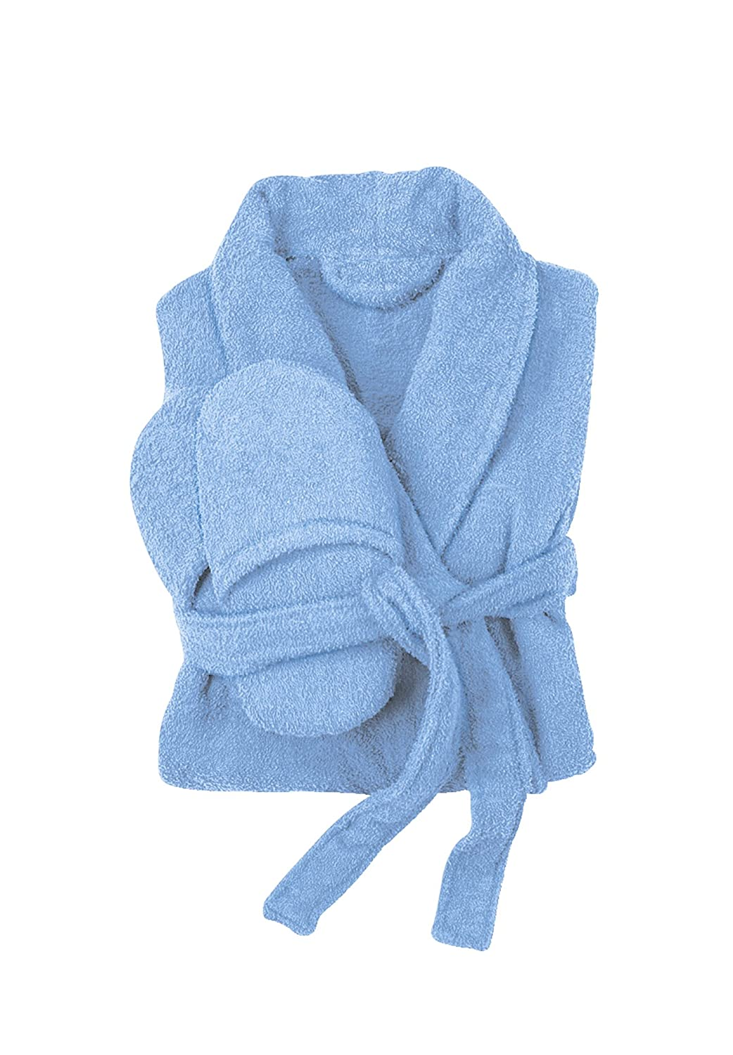 Dreams /& Co Womens Plus Size Long Terry Robe with Free Matching Slippers