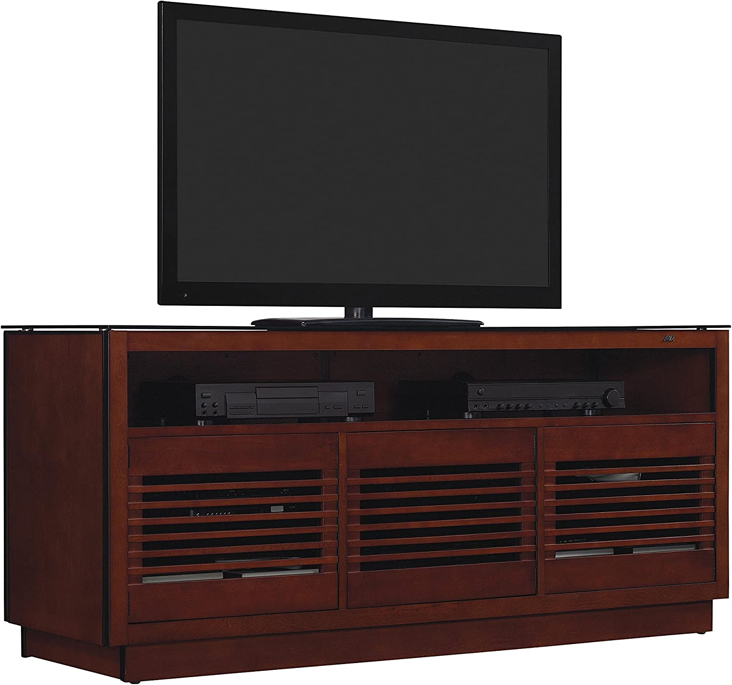 Amazon Com Bell O 63 Tv Stand For Tvs Up To 70 Chocolate Furniture Decor