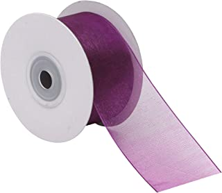 """product image for Offray Chiffon Sheer Ribbon, 1-1/2"""" Wide, 25 Yards, Wild Berry"""
