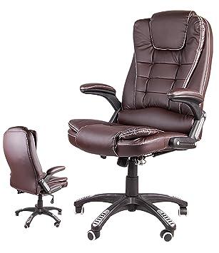 Giosedio BSB Fauteuil Elegant Pour Bureau Siege En Cuir Confortable Chaise Inclinable