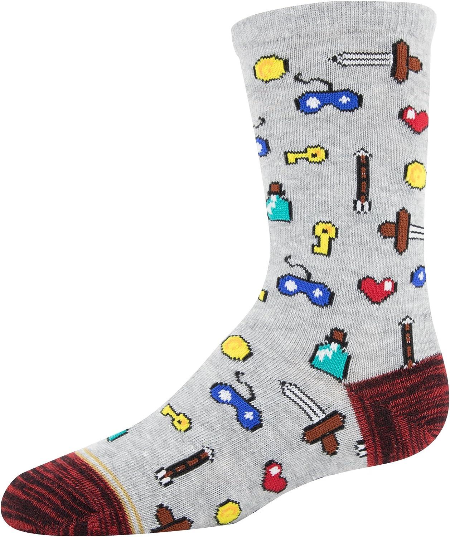 Gold Toe Boys Patterned Crew Socks 3-Pack