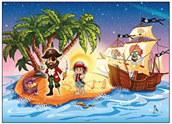 12 Er Set Einladungskarten Pirat Schatzkarte Piratenparty Kindergeburtstag  Einladung Piratenkarte   12 Stück Zum Piratengeburtstag Mit