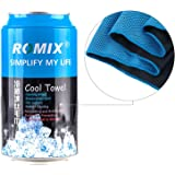 LUCERNE ROMIX Towel with Ice Evaporative Chilly Microfiber Technology for Instant Cooling Relief (Blue)