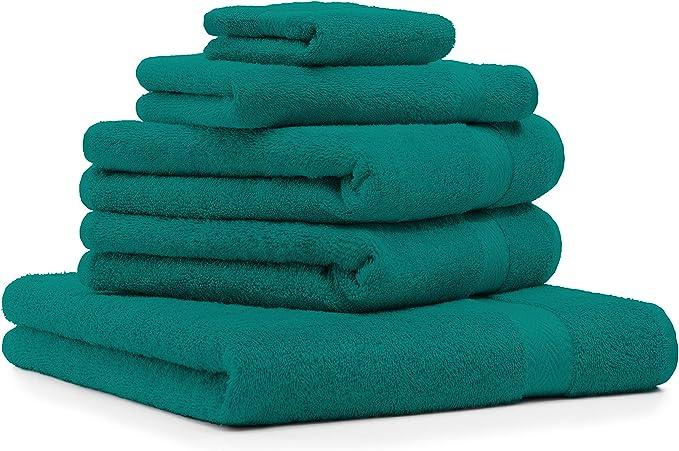 Betz Juego de 5 Toallas Premium 100% algodón (Verde Esmeralda ...