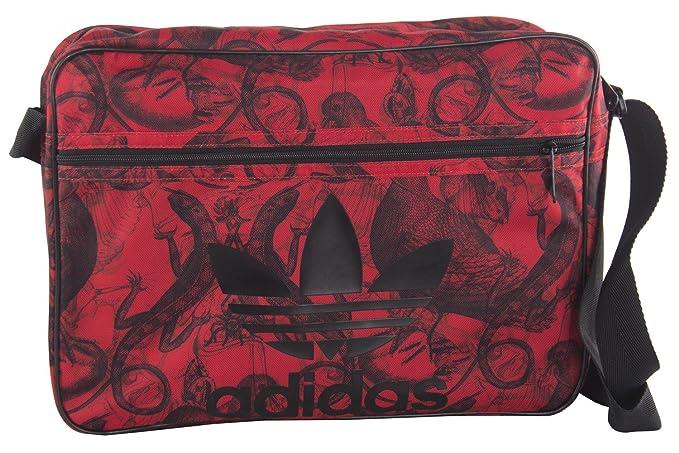 a3eb097e14022 adidas Cartella uomo borsa messenger rosso con tracolla VF222  Amazon.it   Abbigliamento