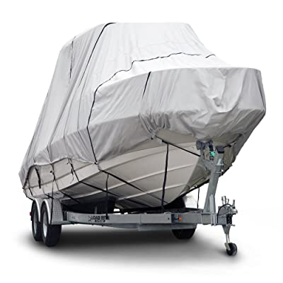 """Budge B-621-X7 600 Denier Hard/T-Top Boat Cover Gray 22\'-24\' Long (Beam Width Up to 106\"""") Waterproof, UV Resistant: Automotive [5Bkhe0803026]"""