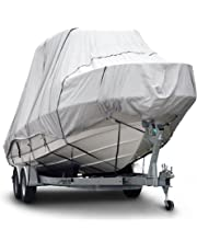 "Budge B-621-X6 600 Denier Hard/T-Top Boat Cover Gray 20'-22' Long (Beam Width Up to 106"") Waterproof, UV Resistant"
