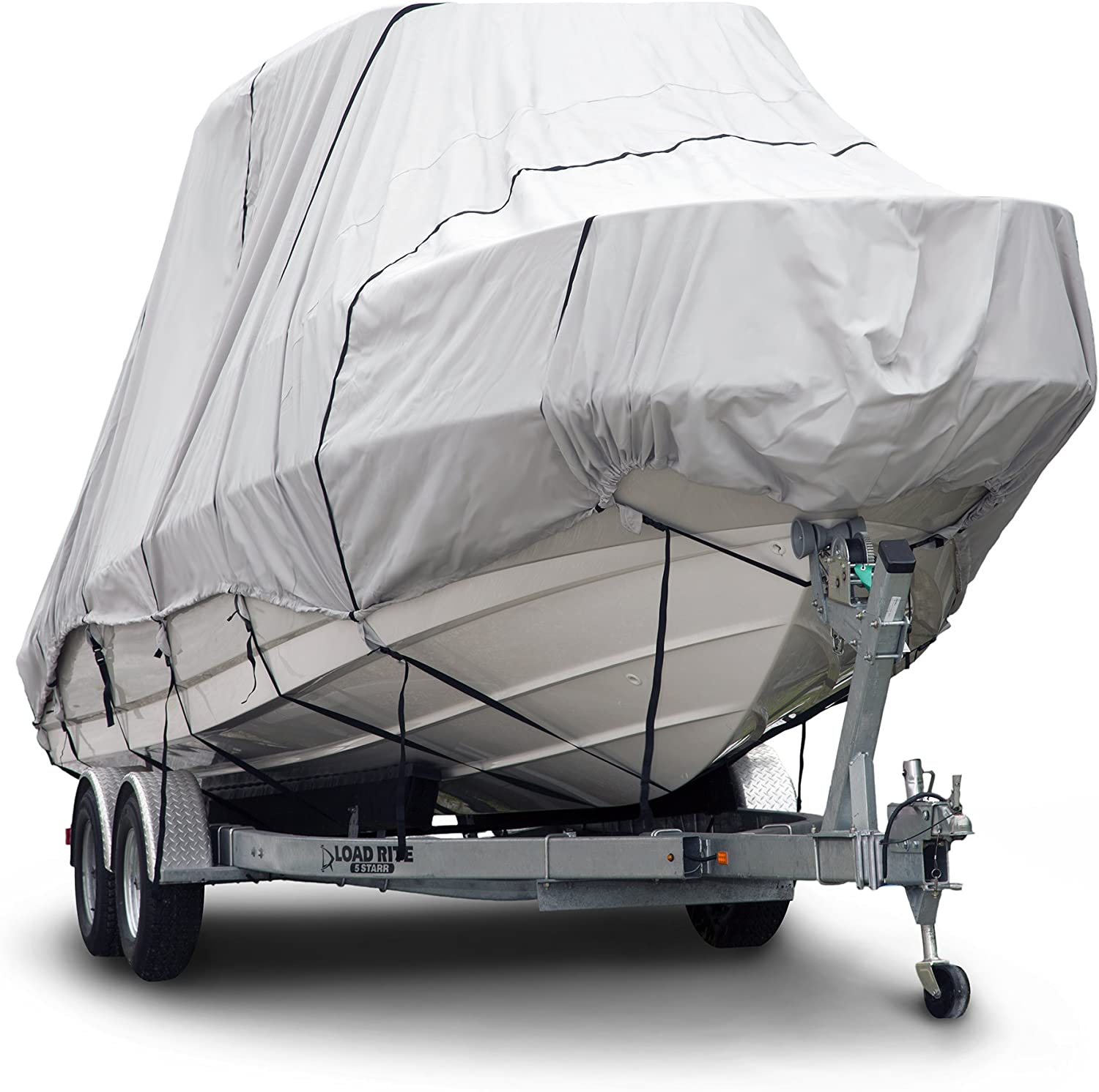 Budge B 621 X6 600 Denier Hard T Top Boat Cover Gray 20 22 Long Beam Width Up To 106 Waterproof Uv Resistant