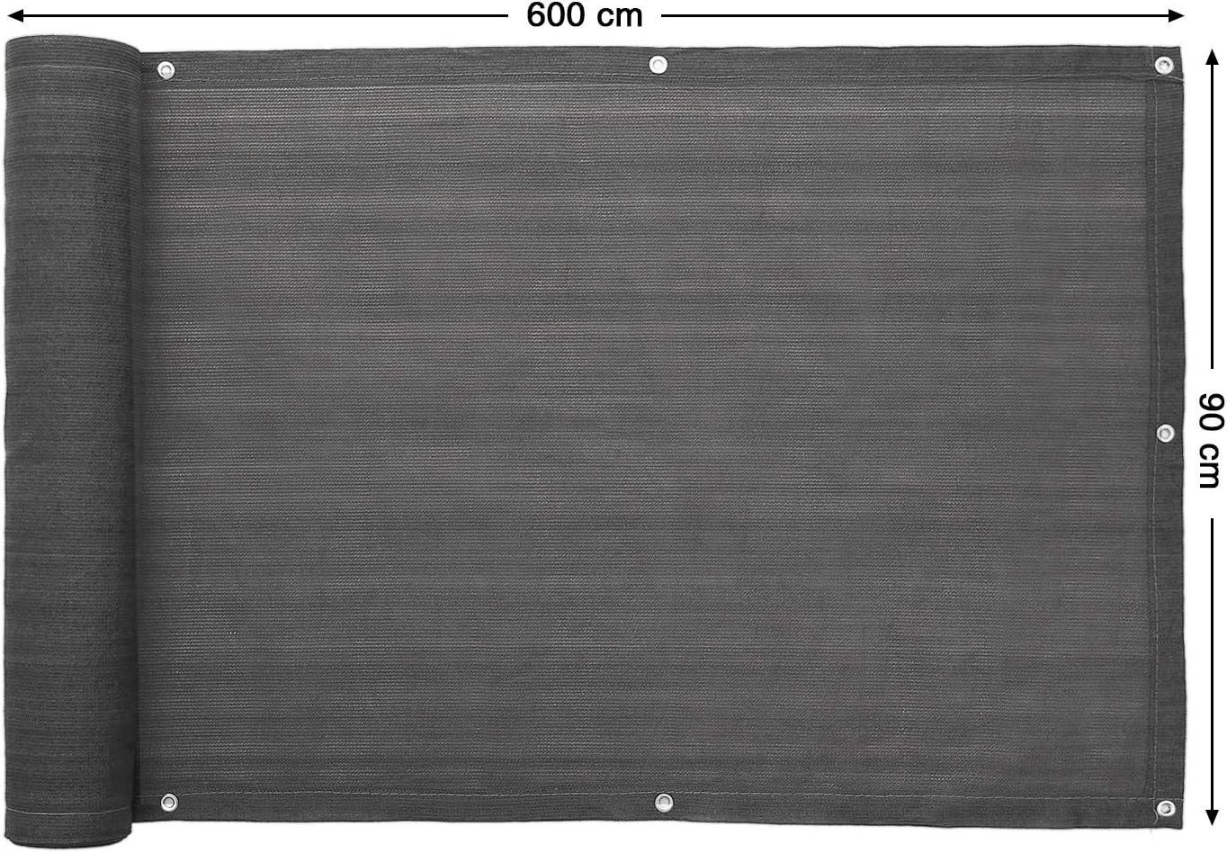 Paravista Canniccio Della Privacy in HDPE Senza Viti Grigio Paravista Permeabile per Balcone SONGMICS Frangivista per Recinzione di Giardino Fascette Autobloccanti Incluse GBC75GY